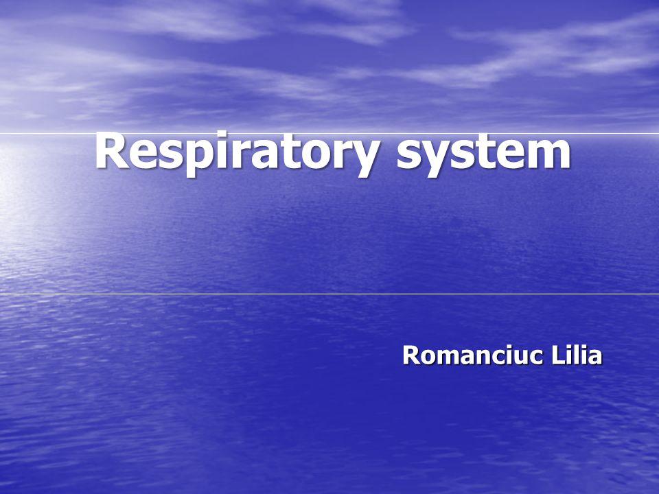 Respiratory system Romanciuc Lilia Romanciuc Lilia