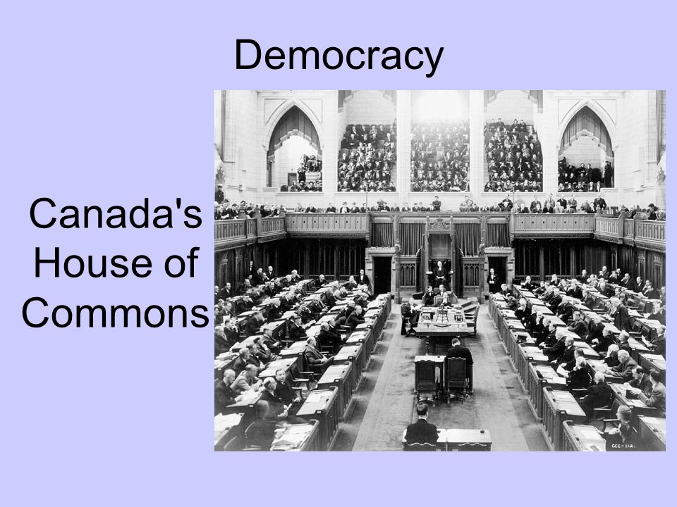 Democracy Canada s House of Commons