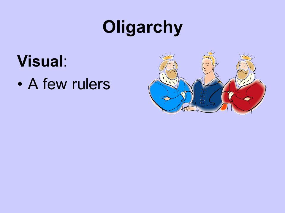 Oligarchy Visual: A few rulers