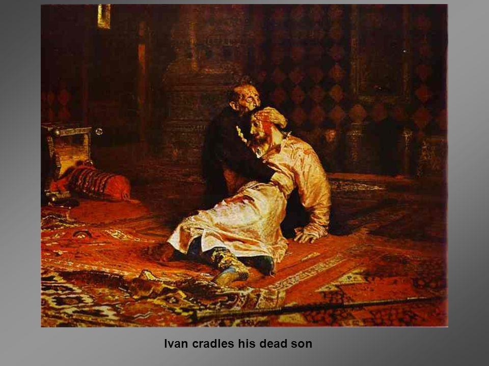 Ivan cradles his dead son