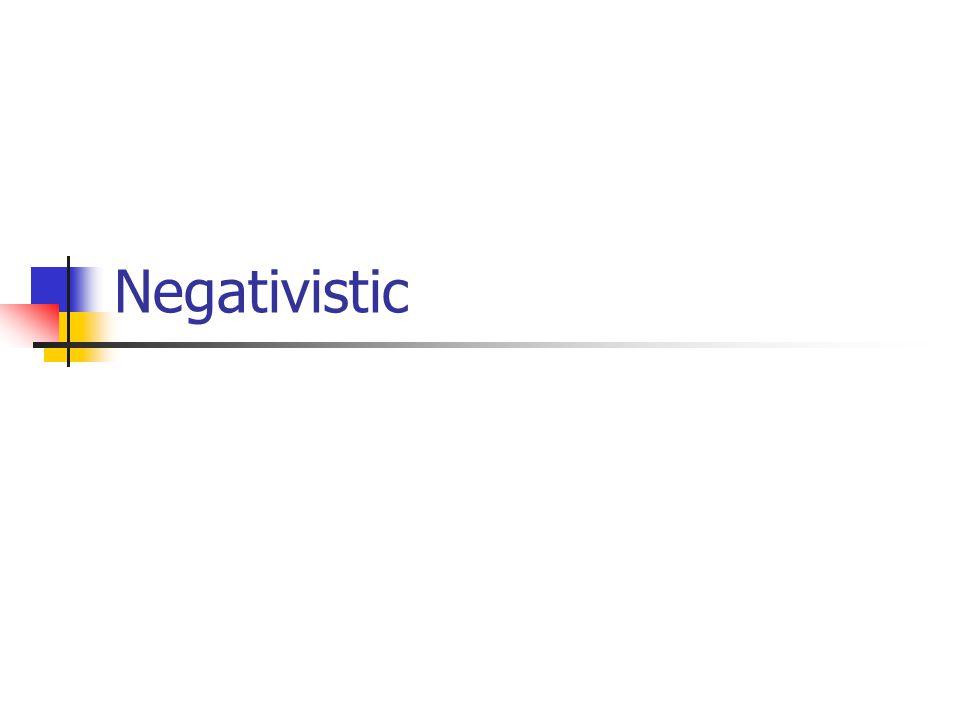 Negativistic