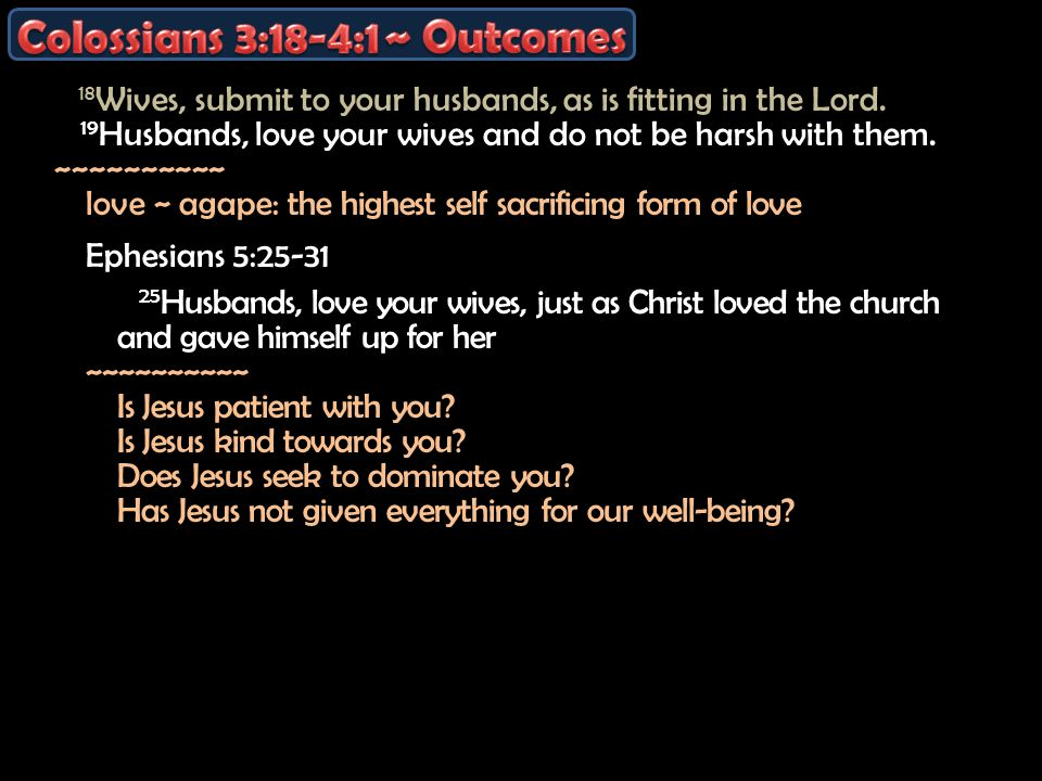 18 Wives, submit to your husbands, as is fitting in the Lord.