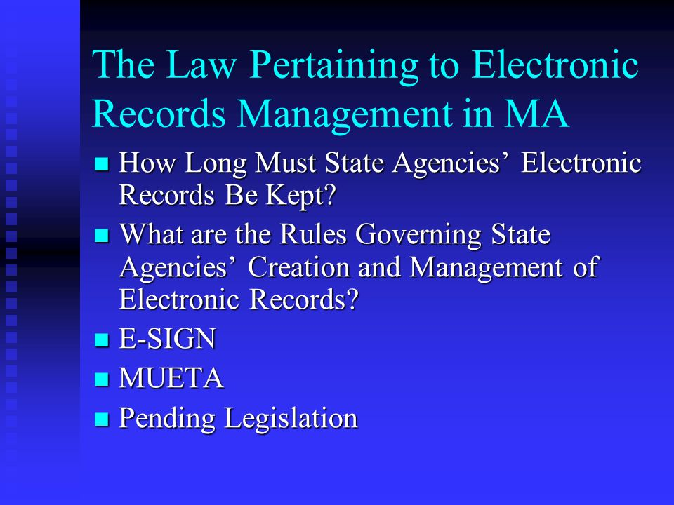 Prior to Enactment, cont.Information Technology Division enabling legislation, Mass.