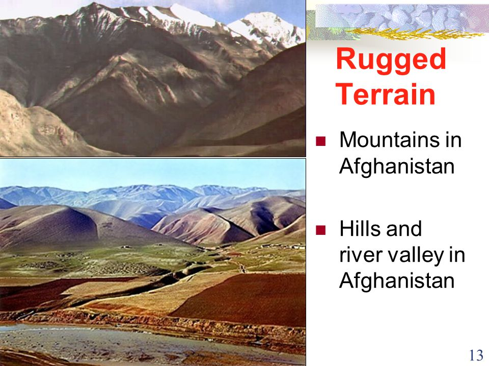 13 Rugged Terrain Mountains in Afghanistan Hills and river valley in Afghanistan