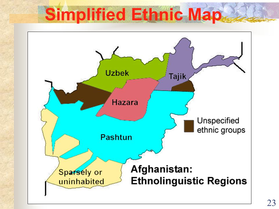 23 Simplified Ethnic Map