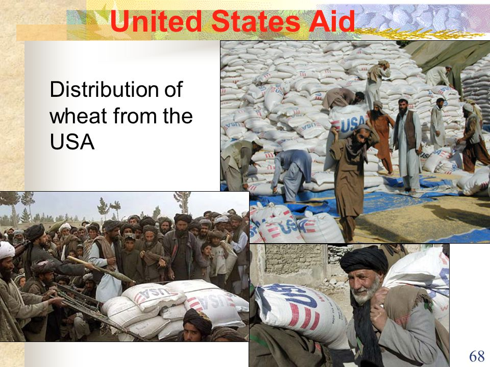 68 United States Aid Distribution of wheat from the USA