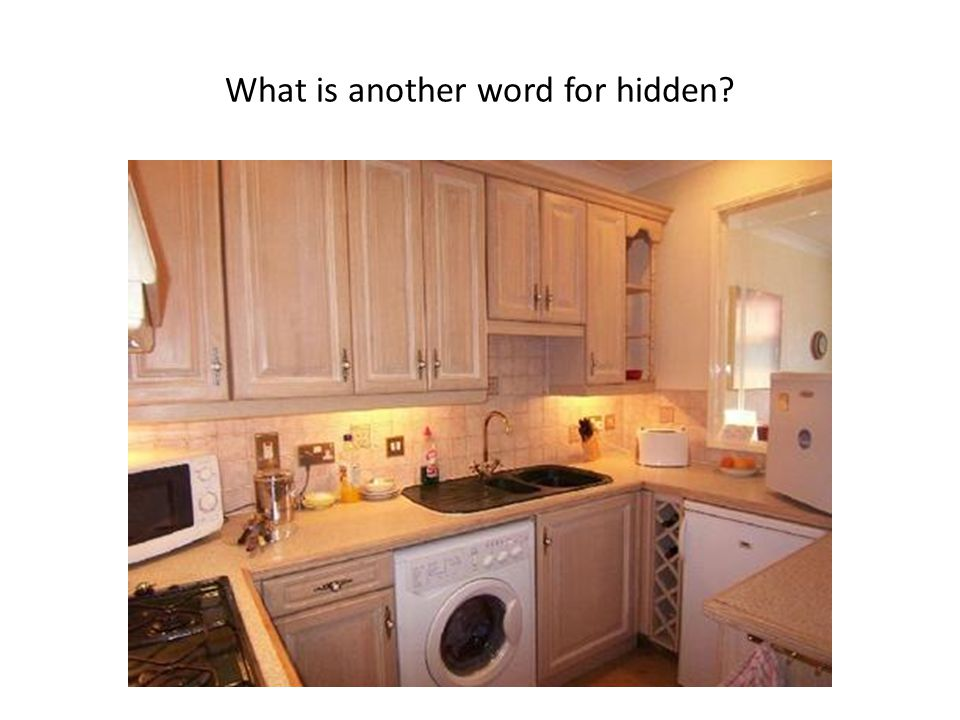 What is another word for hidden?