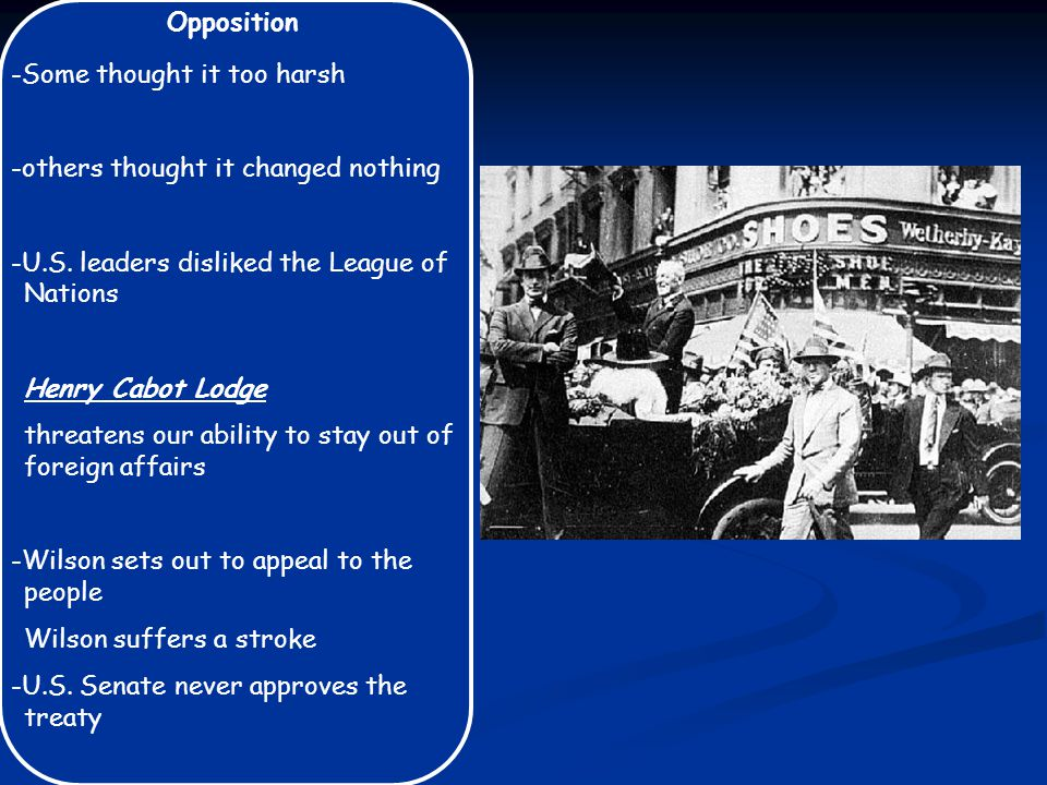 Opposition -Some thought it too harsh -others thought it changed nothing -U.S.