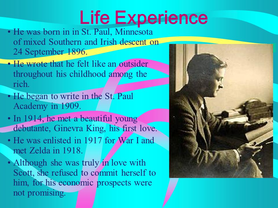Life Experience He was born in in St.