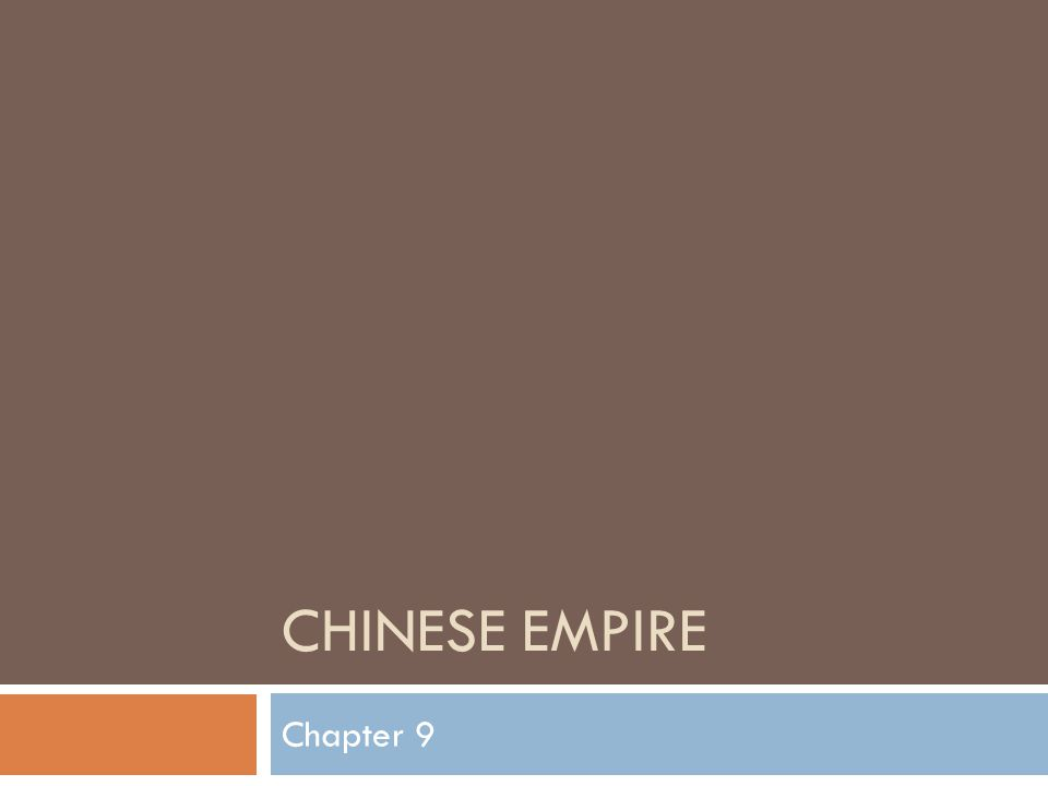 CHINESE EMPIRE Chapter 9