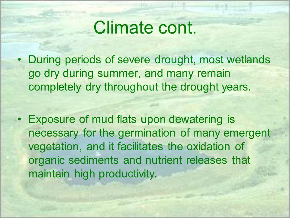 Climate cont.