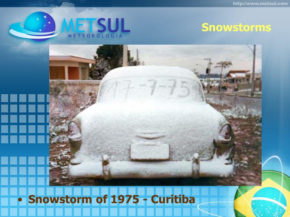 Snowstorms Snowstorm of 1975 - Curitiba