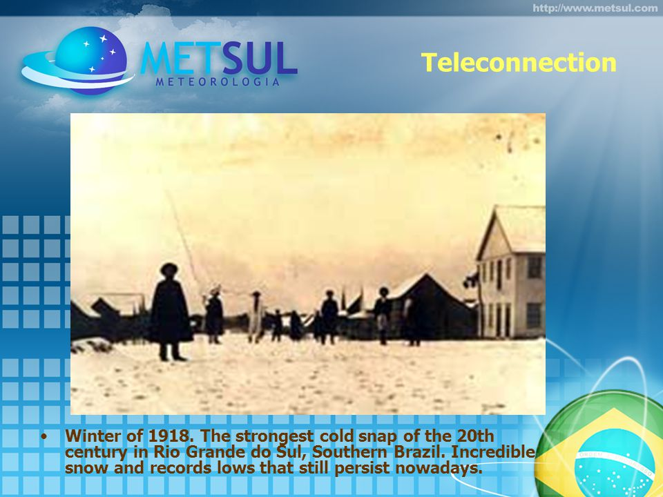 Teleconnection Winter of 1918.