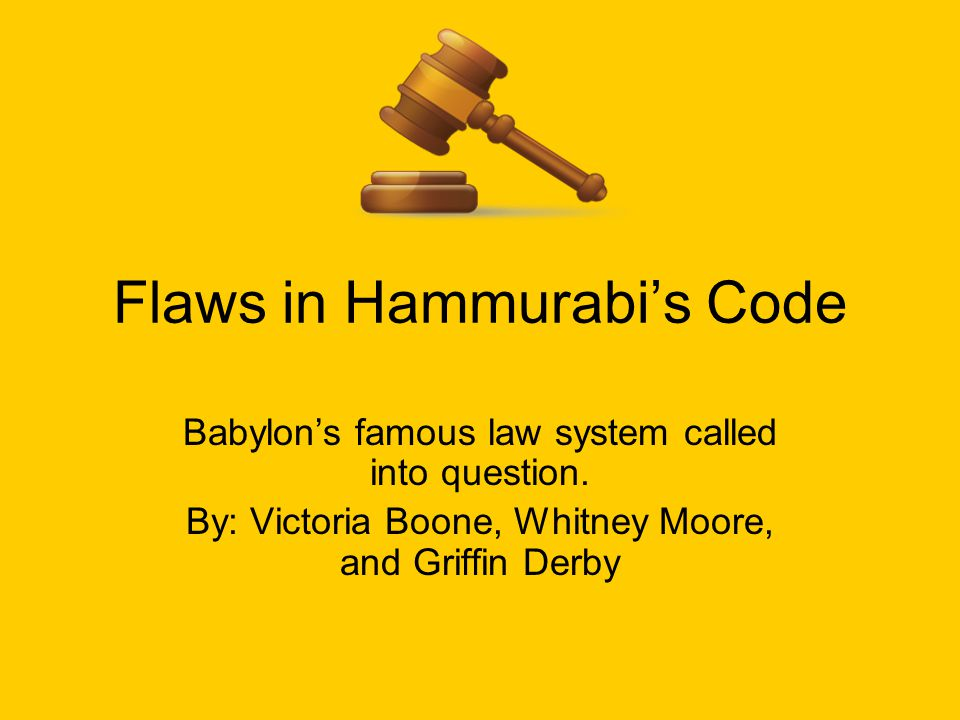 The Code of Hammurabi was one of the more well known legal codes of the ancient world.