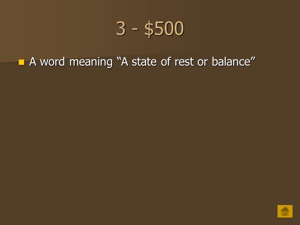 3 - $400 A word meaning to choose A word meaning to choose
