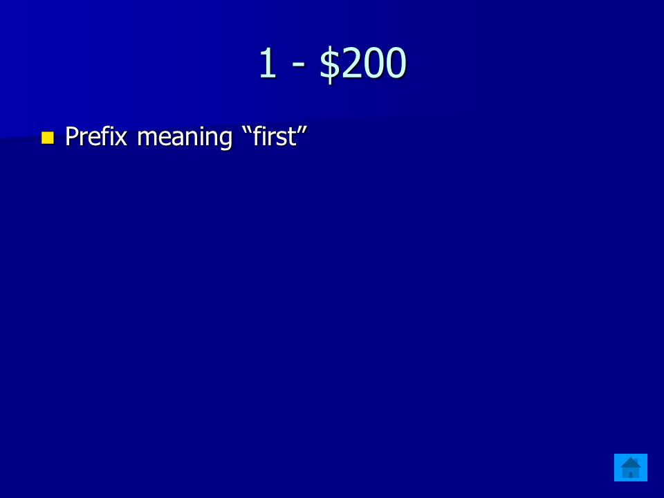 "1 - $100 Prefix meaning ""life"" Prefix meaning ""life"""