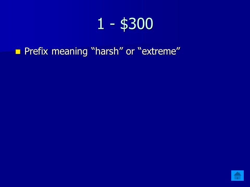 1 - $200 Prefix meaning first Prefix meaning first