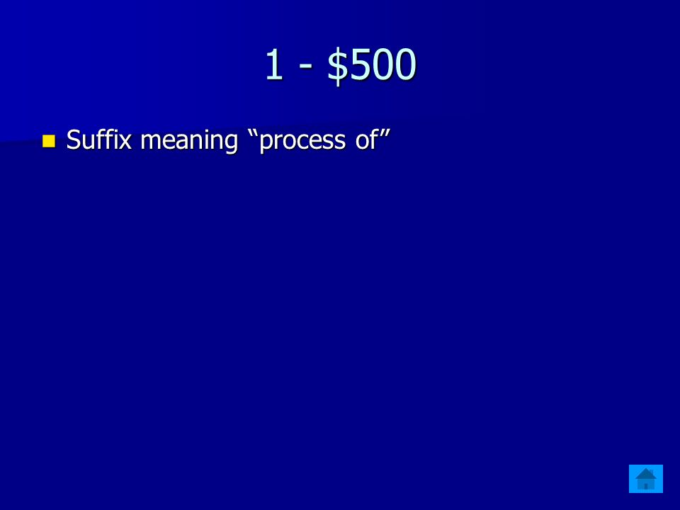 1 - $400 Prefix meaning Earth Prefix meaning Earth