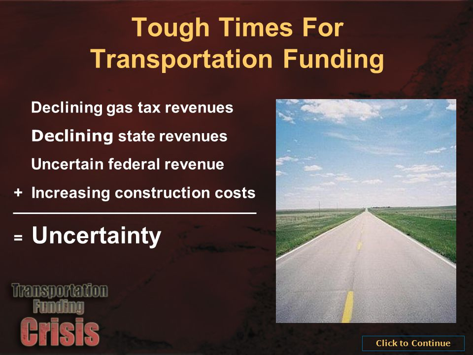Providing the highest quality integrated transportation services for economic benefit and improved quality of life.