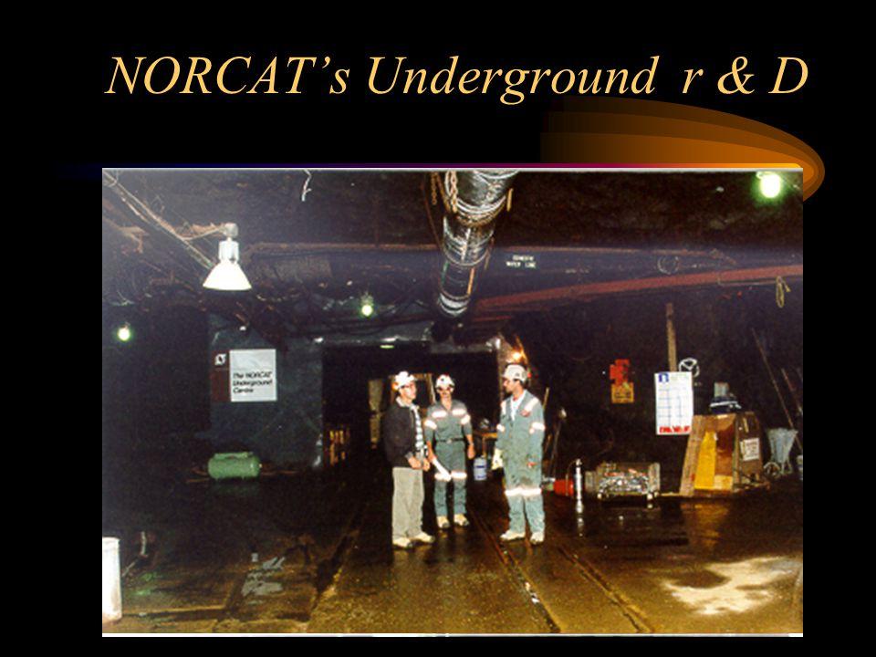 NORCAT's Underground r & D