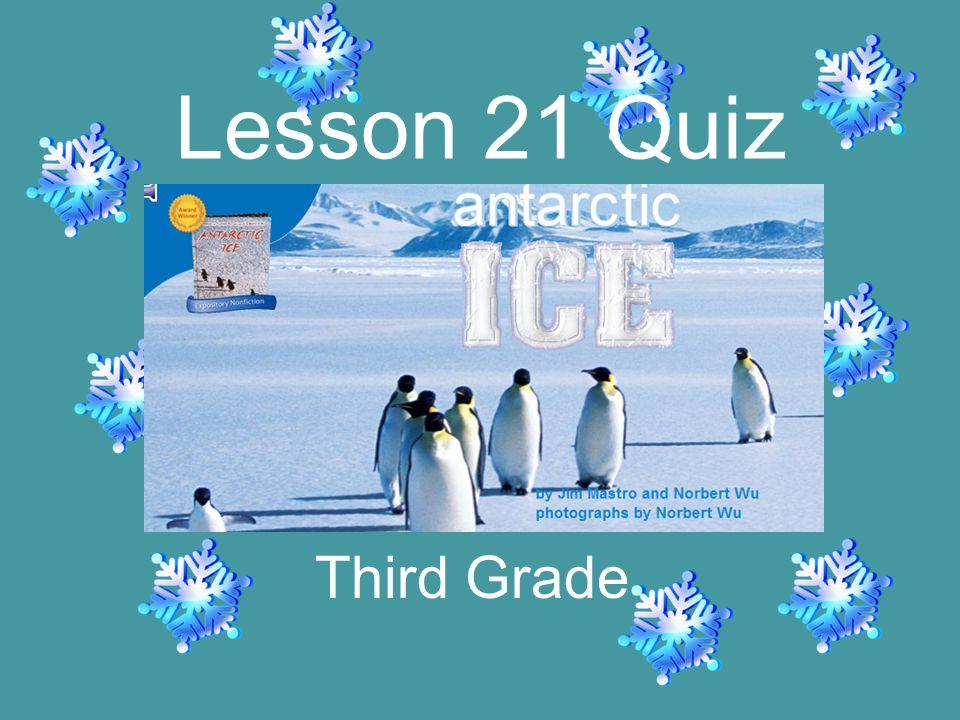 Third Grade Lesson 21 Quiz