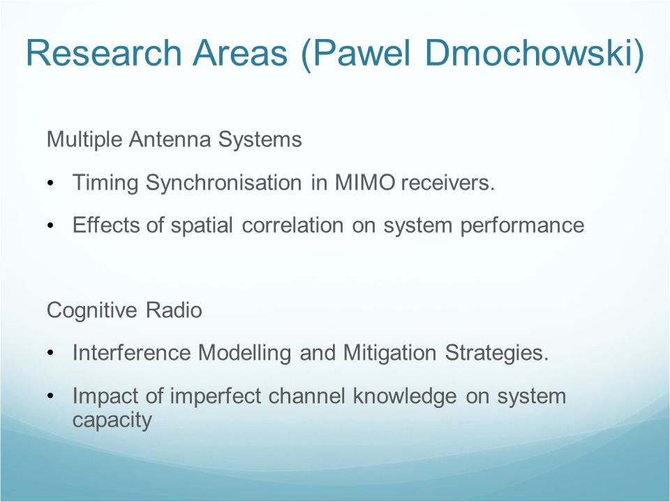 Multiple Antenna Systems Timing Synchronisation in MIMO receivers.