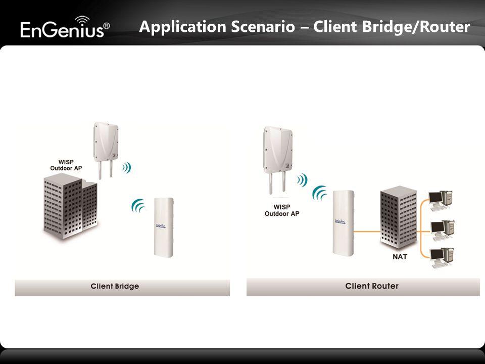 Application Scenario – Client Bridge/Router