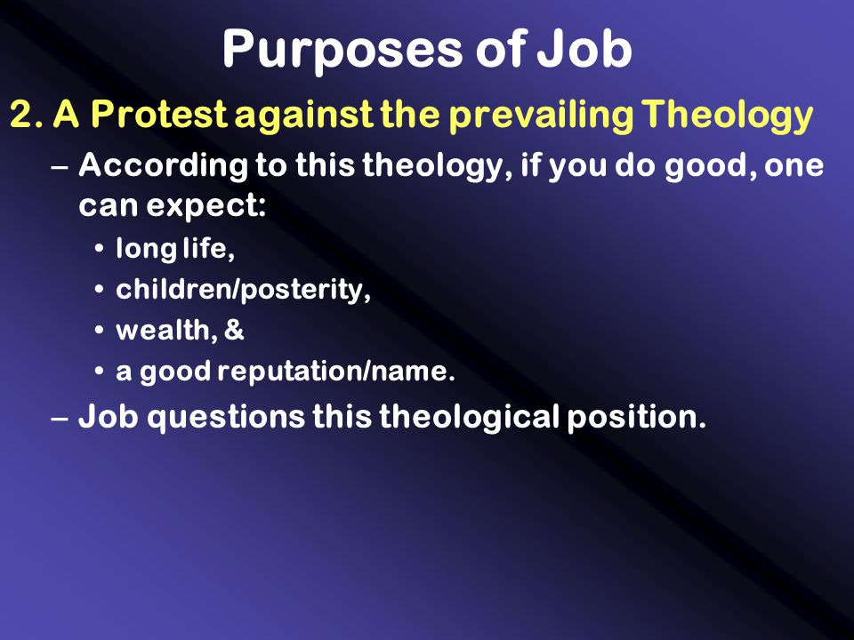 Purposes of Job 2.
