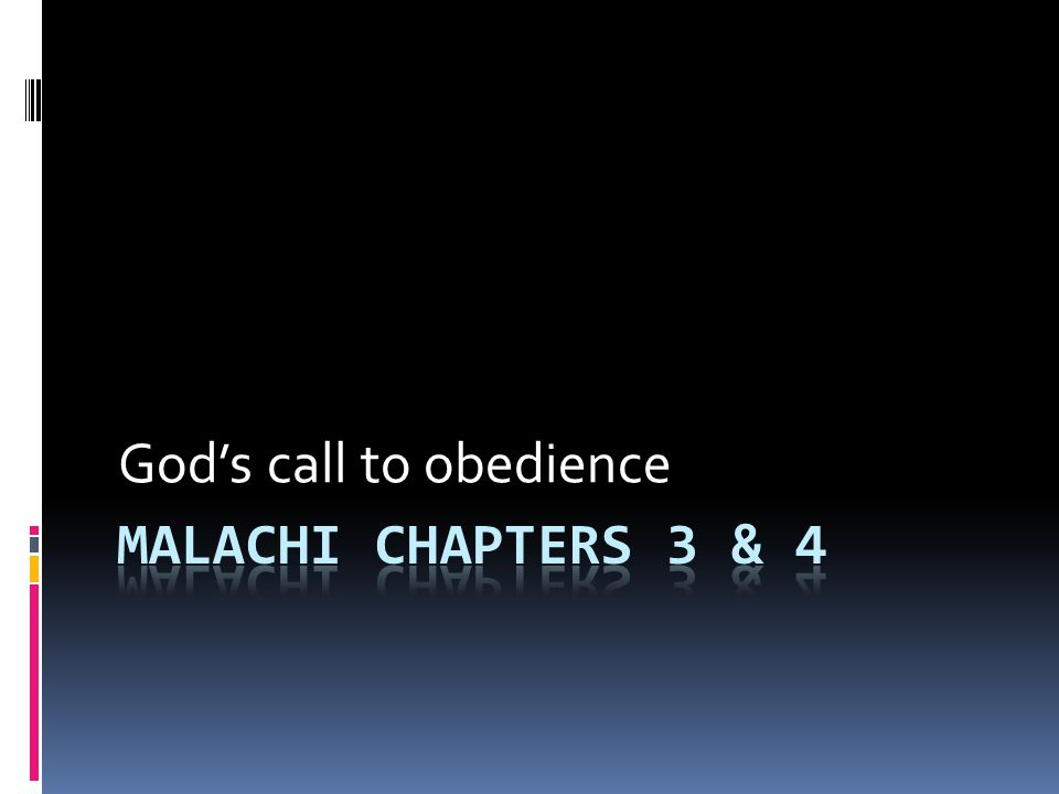 God's call to obedience