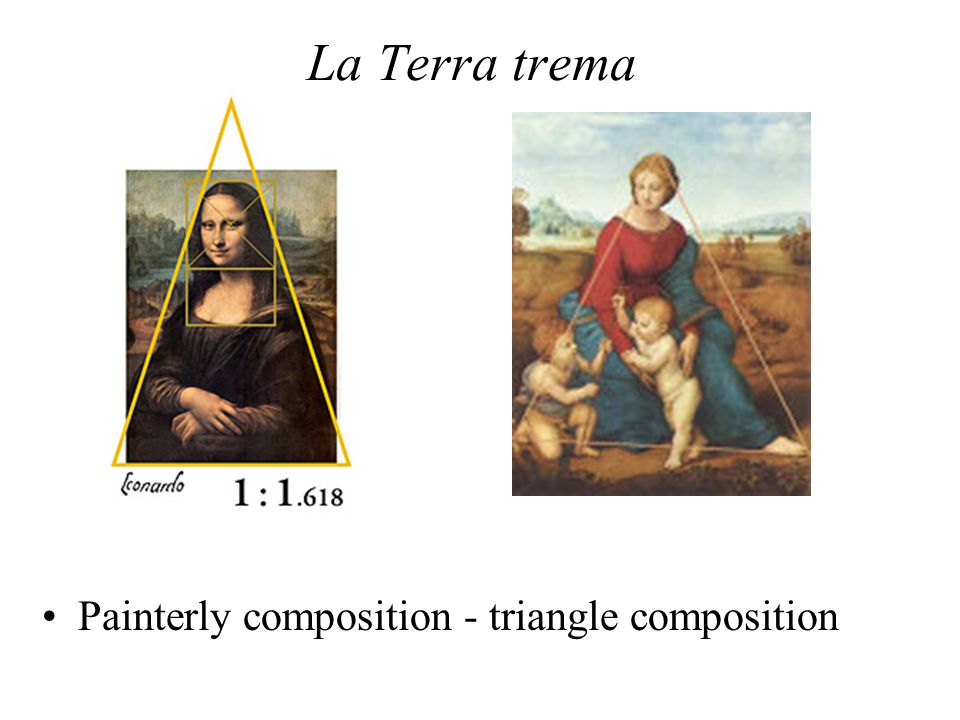 La Terra trema Painterly composition - triangle composition