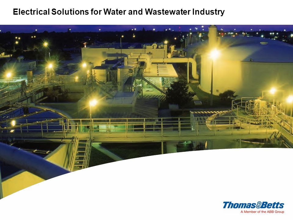 Electrical Solutions for Water and Wastewater Industry