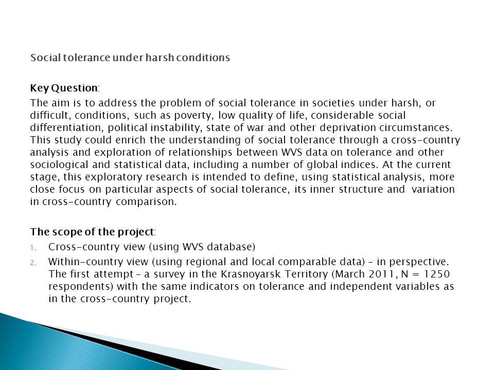 CountrySocial tolerance index factor scores, wave 5 Social tolerance mean R.