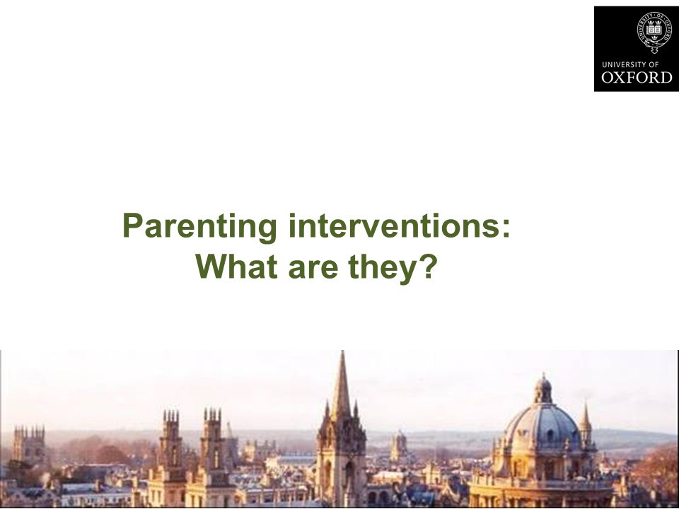 Parenting interventions: What are they?