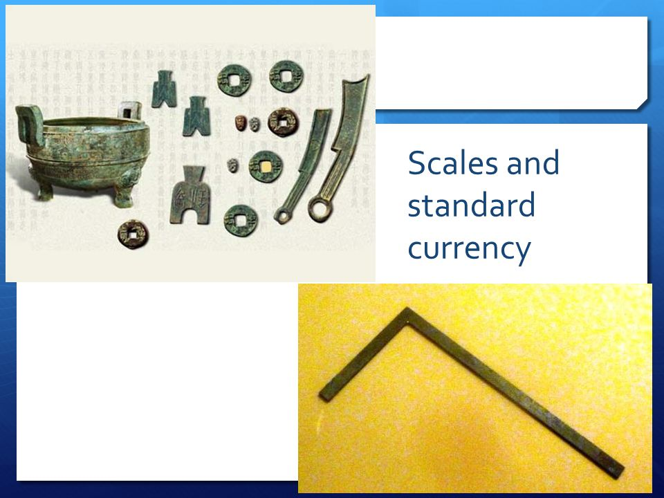 Scales and standard currency