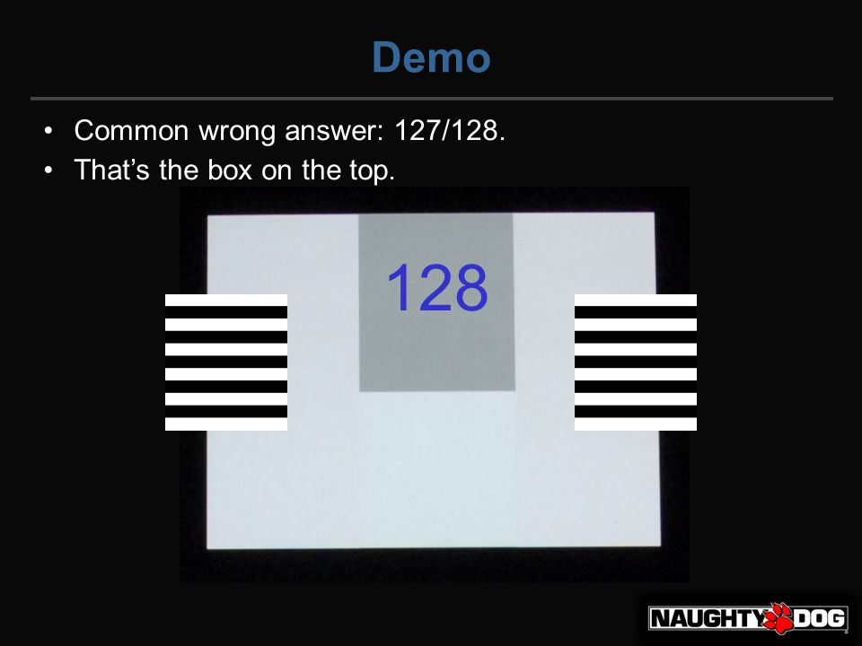 Demo Common wrong answer: 127/128. That's the box on the top. 128