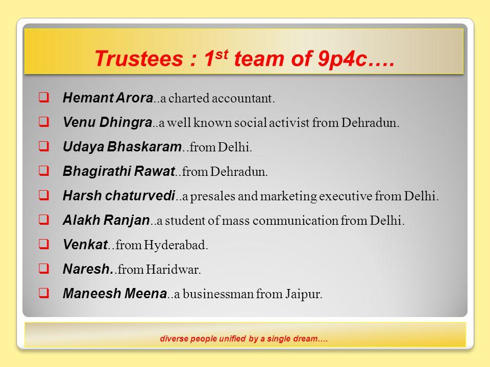 Our team….catalyst, advocate, educator and facilitators of 9p4c ….