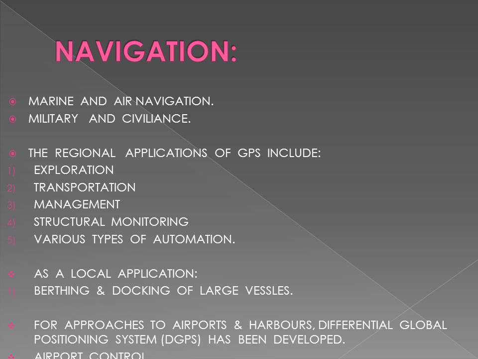  MARINE AND AIR NAVIGATION.  MILITARY AND CIVILIANCE.
