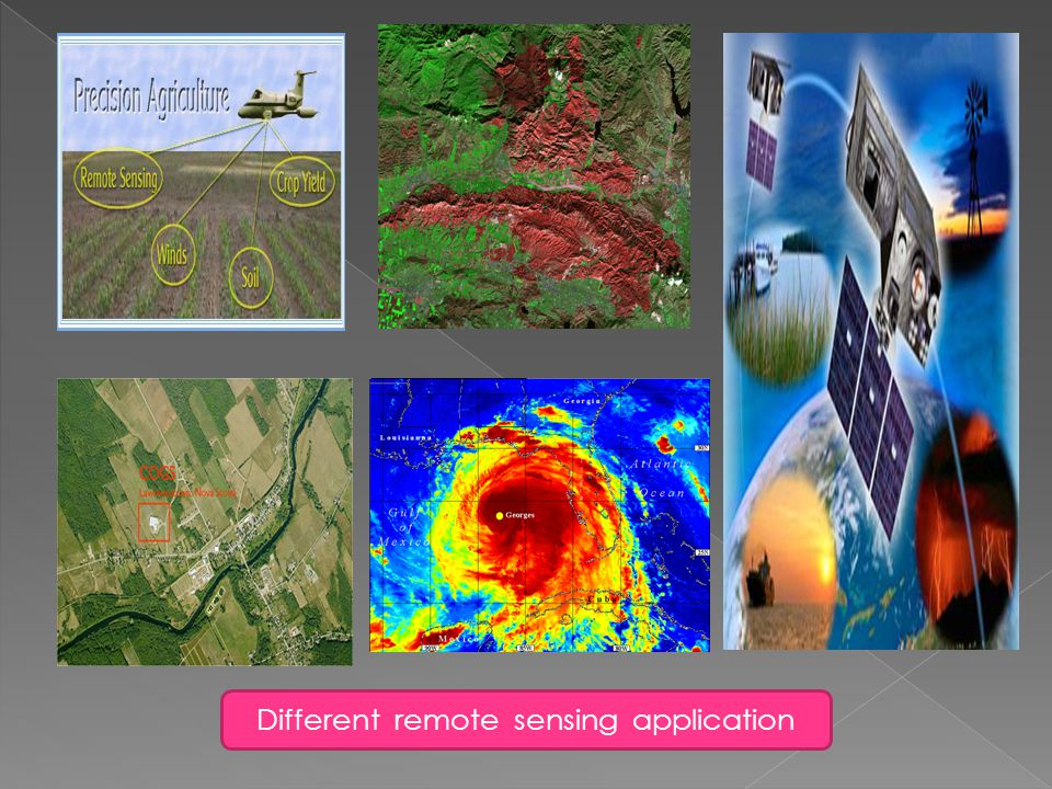 Different remote sensing application
