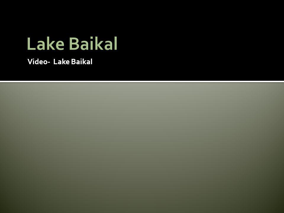 Video- Lake Baikal