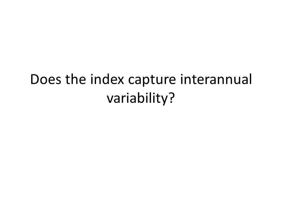 Does the index capture interannual variability