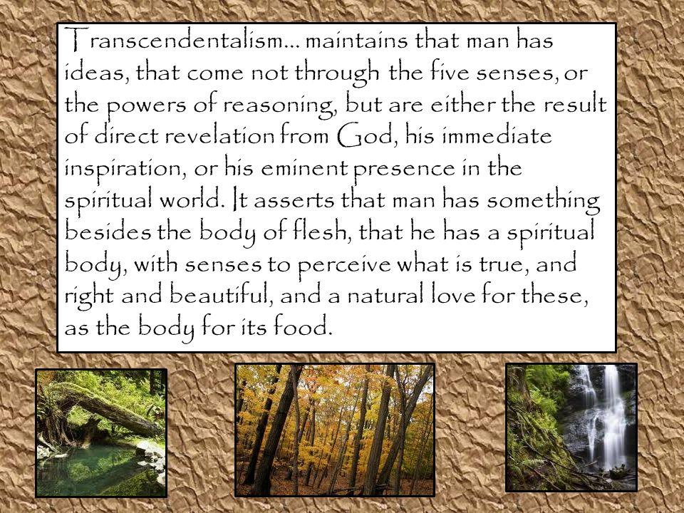 Transcendentalism...