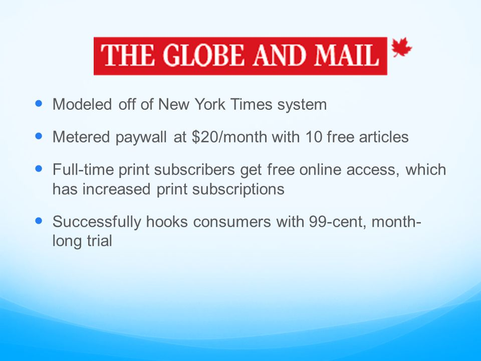CASE STUDY: Has the paywall been a success. It's too early to tell.