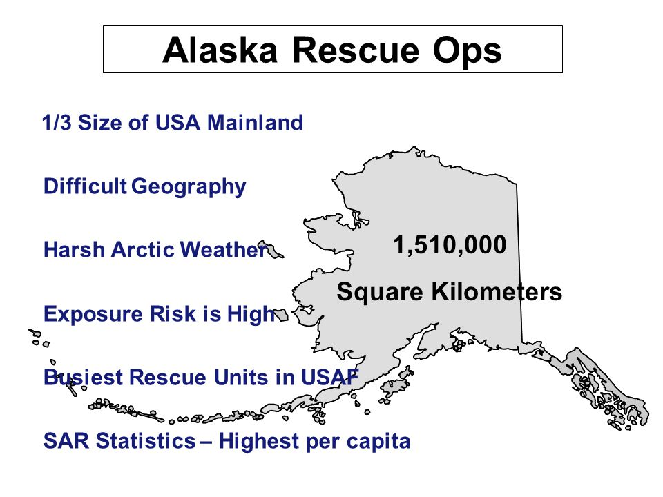 Alaska Rescue Coordination Center  Active Duty Mission  Transferred to ANG – 1994  Staff function of the AKANG  176 Wing (Title 32)  12 on Staff (6 Rated Officers)  24 / 7 Operations