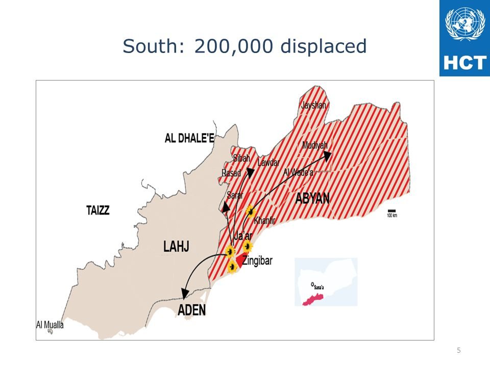 South: 200,000 displaced 5