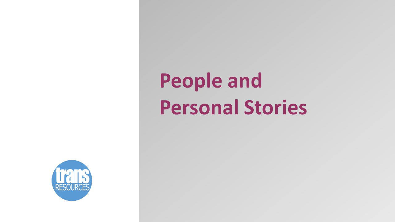 People and Personal Stories