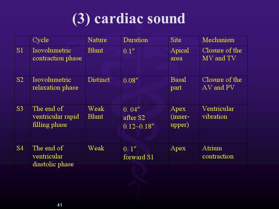 41 (3) cardiac sound