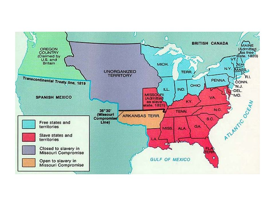Compromise of 1850 California entered as a free state, while all of the other acquired states (NM, AZ, UT) made their own decision.