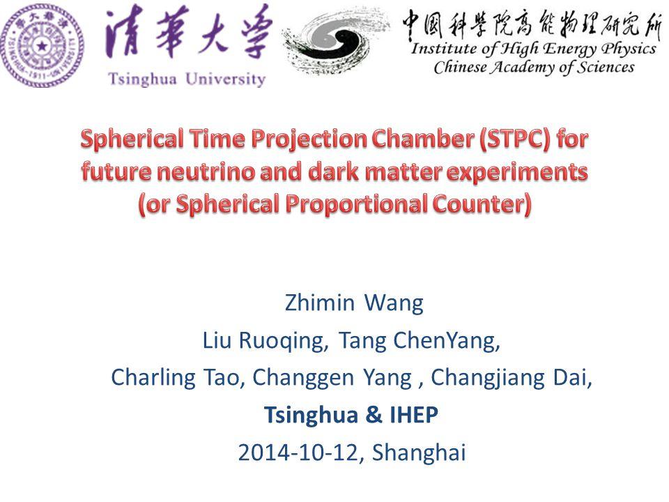 Zhimin Wang Liu Ruoqing, Tang ChenYang, Charling Tao, Changgen Yang, Changjiang Dai, Tsinghua & IHEP 2014-10-12, Shanghai