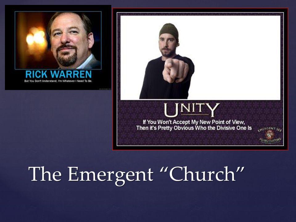 "The Emergent ""Church"""