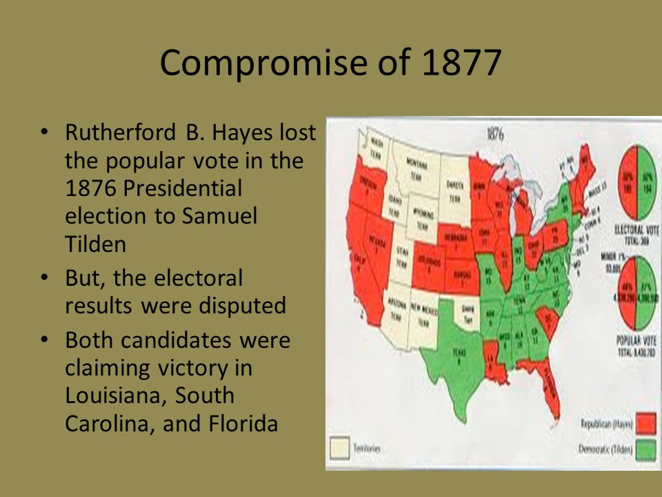 Compromise of 1877 Rutherford B.